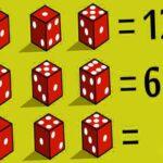 Головоломка: Решите задачу последняя сумма между этими кубиками и докажите, что вы математический гений.