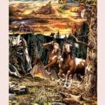 Тест для самых внимательных, найдите на картинке 14 лошадей.